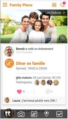 Family Place, le réseau gratuit, privé et sans publicité pour communiquer, partager et s'organiser en famille ou entre amis, en toute simplicité.