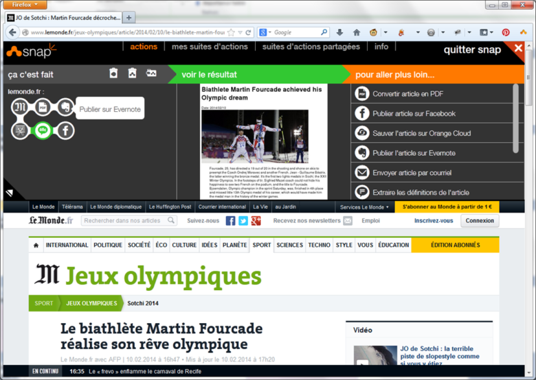 composition en cours sur un article de lemonde.fr