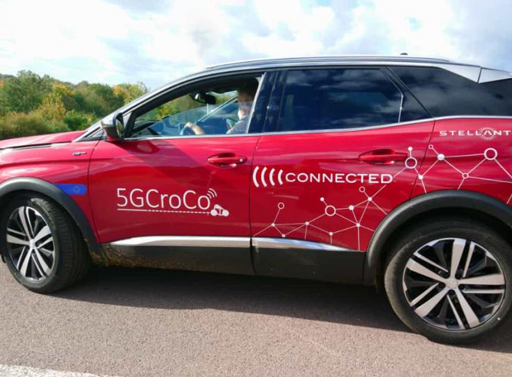 A 5GCroco - Stellantis test car