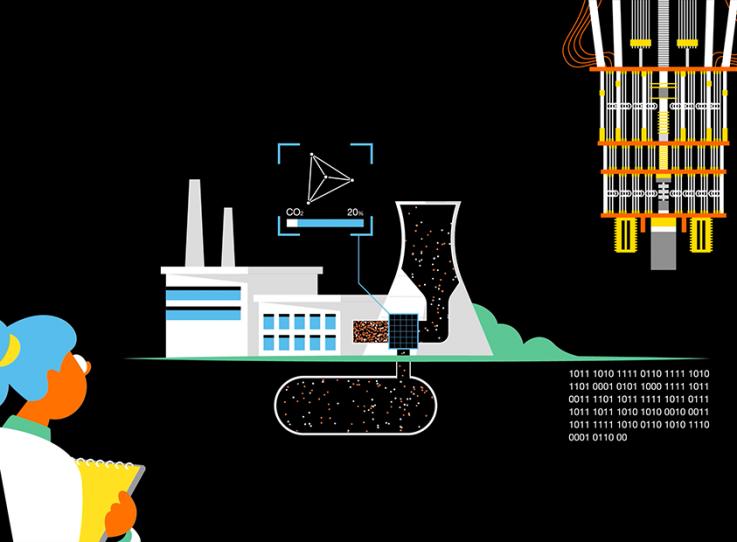 Représentation d'un complexe industriel utilisant les technologies quantiques